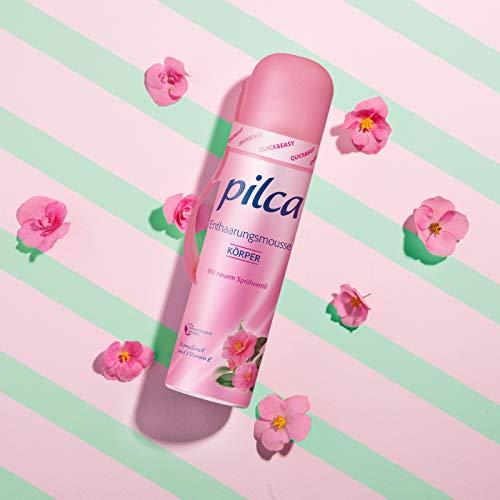 Pilca Enthaarungsmousse für eine angenehme und schnelle Rasur-pflegend zur Haut - 3er pack (3x150ml)