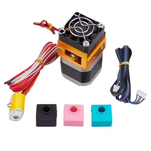 QOHFLD Accessori per Stampante Estrusore Mk8 Testa J-Head Hotend per Makerbot Prusa I3 Stampanti 3D Parti con 1Pc Mk7 / Mk8 / Mk9 Set di Calze in Silicone (Dimensioni: Come PIC) (Size : AS PIC)
