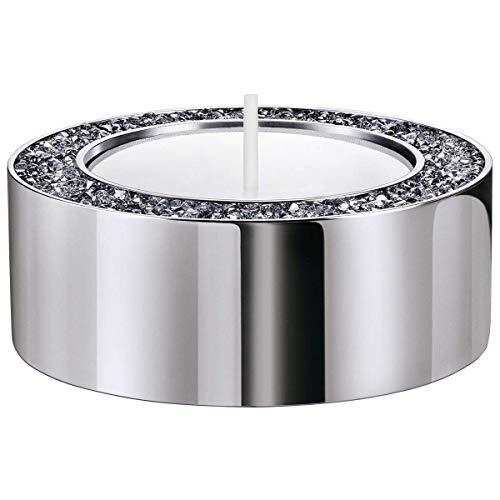 SWAROVSKI Kleiner Teelichthalter Kristall / Licht Chrom One Size