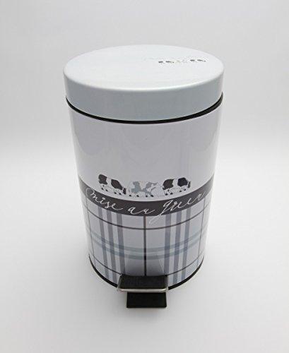 Carpemodo Kosmetikeimer mit Tretmechanik 3 l Volumen MOO Kuh