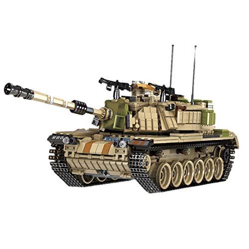 HYZM Panzer Bausteine, 1753 Teiles WW2 Israel Main Battle Tank Magach Militär Panzer Konstruktionsspielzeug - Geschenk für Erwachsene und Kinder, Kompatibel mit großen Marken Baustein