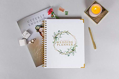 Product Image 2: Wedding Planner & Organizer – Floral Gold Edition – Diary Engagement Gift Book & Calendar