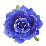 Beaupretty 2 en 1 Pin de Pelo Rosa Ramillete Flor Pinza de Pelo Flor Broche Pin Accesorios para El Cabello para Boda de Fiesta (Azul Cielo)