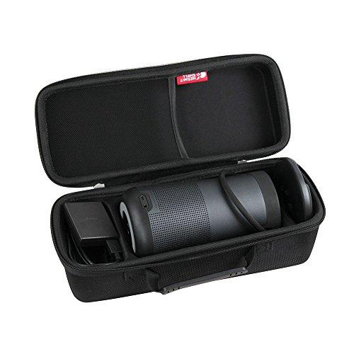 Hermitshell Hard EVA Travel Triple Black Case Fits Bose SoundLink Revolve+ Bluetooth Speaker and Charging Cradle