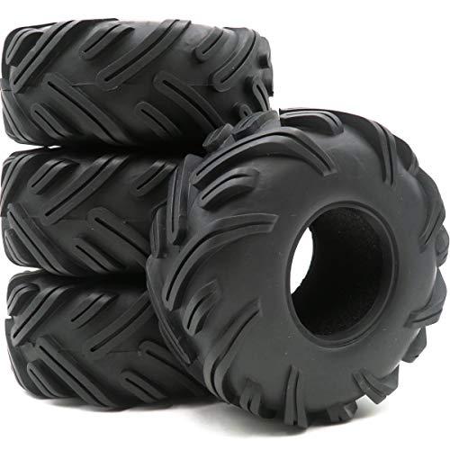 hobbysoul 4Stk RC 2.2 LKW Badland Monster Traktor Reifen Sand Snow Tire Höhe (OD):ca.135mm (5,3 Zoll) für RC 2.2 Felgen