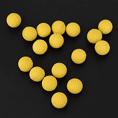 Zacht en lichtgewicht speelgoedgeweerbal, speelgoedbal, niet-blokkerende EVA-bal voor buitenspellen Binnenspellen Full Shot Oefening Approach Shot Kinderen Kid(yellow)