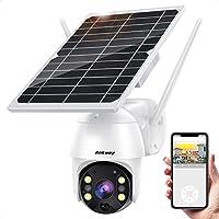 Ankway 1080p Solar WiFi IP65 Waterproof Security Cam