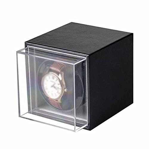 WZHZJ Reloj Winder para Relojes automáticos Nueva VERSIÓN 4 + 6 Accesorios de Reloj de Madera Relojes Caja de Almacenamiento Colector de Almacenamiento 3 Modo de rotación Solo (Color : B)