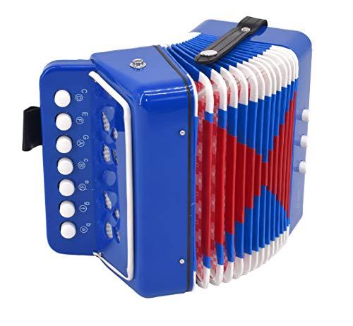 Voggenreiter Kinder-Akkordeon / 7 Töne 2 Bässe und Luftventil - Das Kinder-Akkordeon im föhlich-farbigen Design lädt kleine Musiker ab 3 Jahren zu musikalischem Spiel und Spaß ein