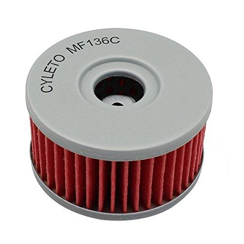 Cyleto - Filtro de aceite para GZ250 MARAUDER 250 1999-2010/GN250 GN 250 1982-2000/GN400 GN 400 1980 1981 1982