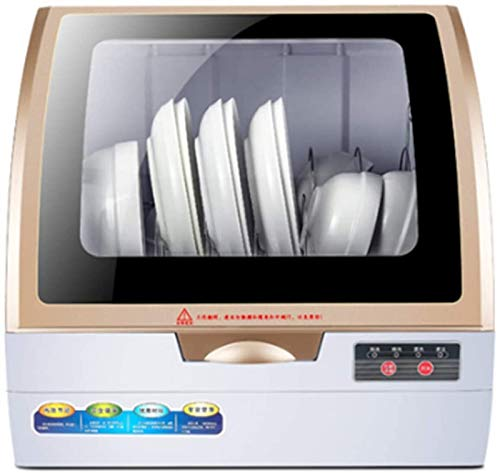 JXLBB Lavavajillas de encimera, Spray de ciclones 3D, Alta Temperatura, Secado de Aire, Adaptador de Grifo Incluido, automático para el hogar