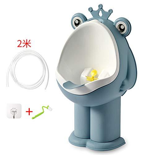 LYN&xxx Baby-Toiletten-Trainings-Urinal, Jungen Potty Toilet Training Netter Hund Kitz Kleinkind Badezimmer Kinder Urinal für Jungen Pee Trainer mit lustigem Zielen Ziel,Blau