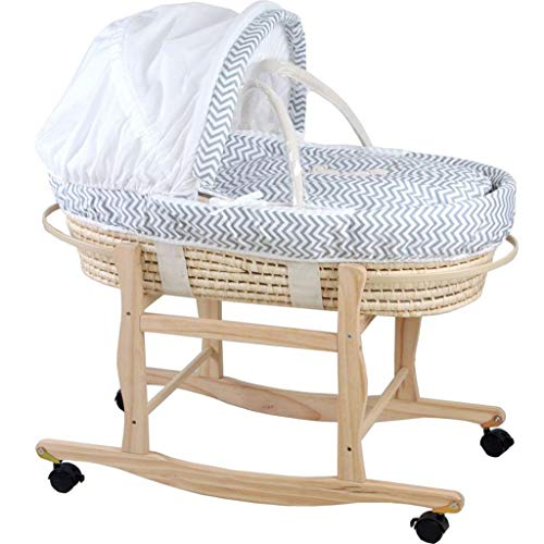 Great Price! Jiu Si- Newborn Baby Cradle Bed Crib Baby Baby Portable Basket Portable Out Reclining B...