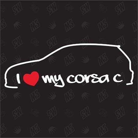 I Love My Opel Corsa C Sticker Bj 01 07 Auto