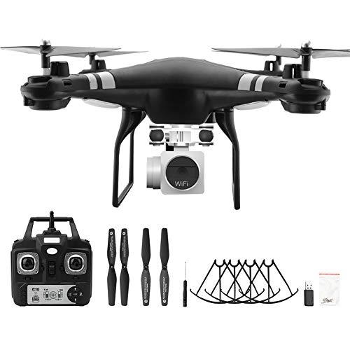 Quadcopter, Drone con cámara de 3 Colores 1080p, 1 Tiempo Establecido 10 Minutos 1080p Cámara de Alta definición Drone ABS + Componentes electrónicos para Black, 1080P