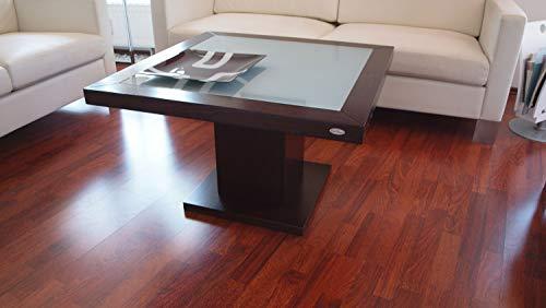 Carl Svensson Design Couchtisch Tisch S-360 Walnuss/Wenge Milchglas