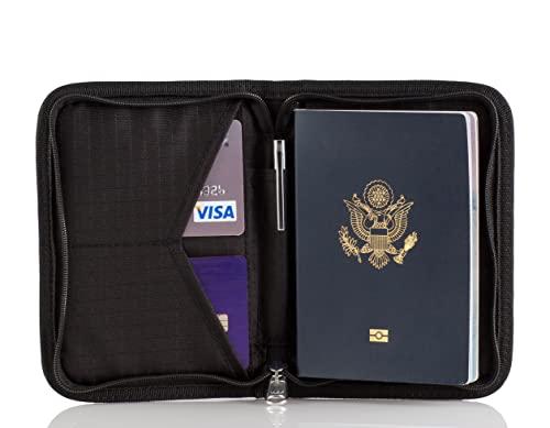 Porte Passeport Zero Grid - Organisateur de Voyage avec...