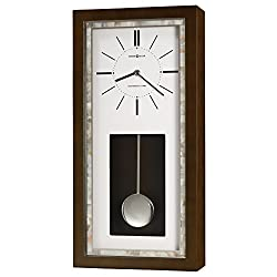 Howard Miller Holden Wall Clock 625-594 – Espresso Finish with Quartz, Single-Chime Movement