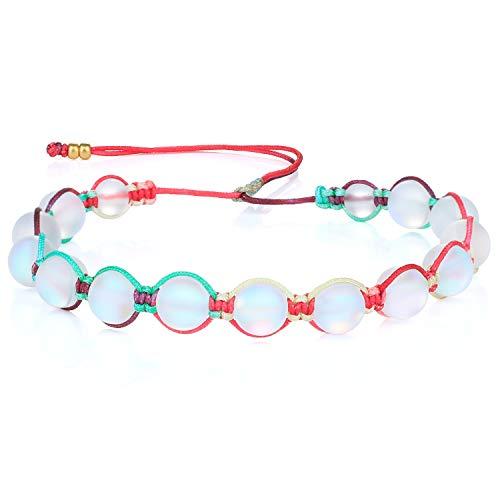 KANYEE Bracelets De Perles Lune Bracelet Rang Coloré Bracelets De Corde Faits à La Main pour Femmes – 23J