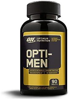 Optimum Nutrition ON Opti-Men. Suplemento Multivitamínico. Multivitaminas y Minerales para Hombres con BCAA. Glutamina. Vitamina C. Zinc y Magnesio. sin sabor. 30 porciones. 90 Cápsulas