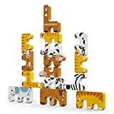 TUMAMA Animals Stacking Toys,STEM Balance Blocks for Kids,Early Educational Development Toys Gifts for Baby Birthday,Christmas, Pack of 15