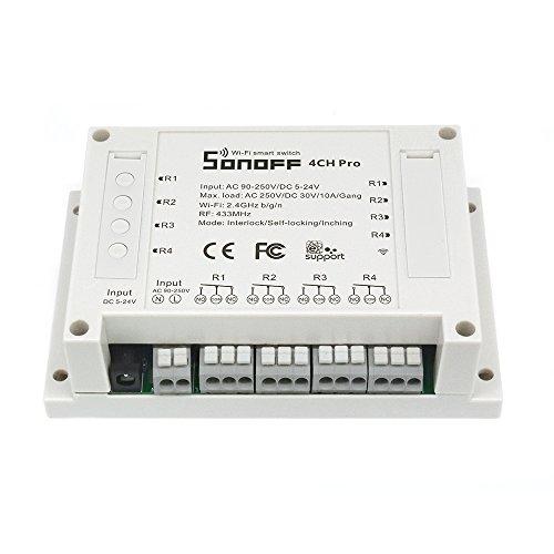 sonoff 4CH Pro Radio fernbideung, Smart Switch Interruptor de luz inteligente enchufes Alexa WiFi domótica sonoff tasmota