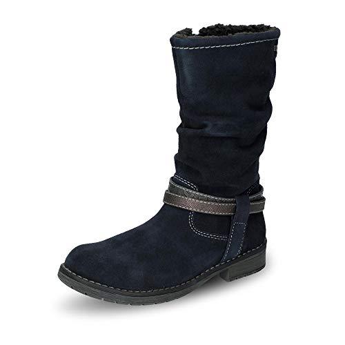 Lurchi Mädchen LIA-TEX Hohe Stiefel, Blau (Atlantic 22), 36 EU