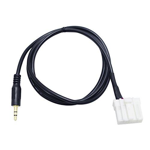 Feeldo de voiture aux 3,5 mm Câble audio mâle câble d'interface adaptateur câblage