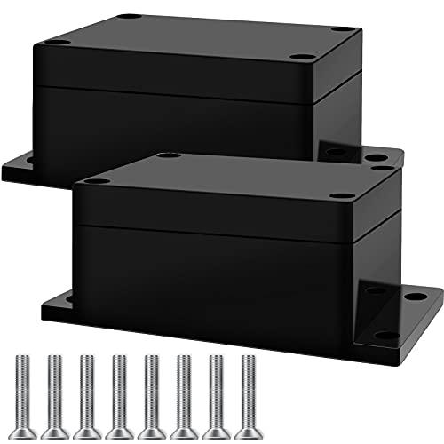 2 Stück wasserdichte Anschlussdose, Schwarz Elektrische Anschlussbox Projektkasten Abzweigdose Kunststoffgehäuse, Kann auf dem Stromanschluss Installiert Werden