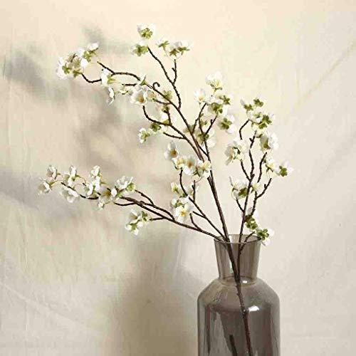 Deng Xuna Kunstblumen Cherry Blossom Kirschblüte Künstliche Blumen Plastikblumen Kunstpflanze für Balkon Garten Außenbereich Zuhause Büro Vase Hochzeit Party Dekoration Blumendekor, 97 cm (A) - 4