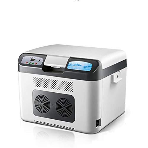 Wlehome Refrigerador portátil 26L, Mini refrigerador, congelador, medicamento, insulina, Vacuna, refrigerador, Calentador, para automóvil, hogar, Viaje, Camping, Picnic,Blanco