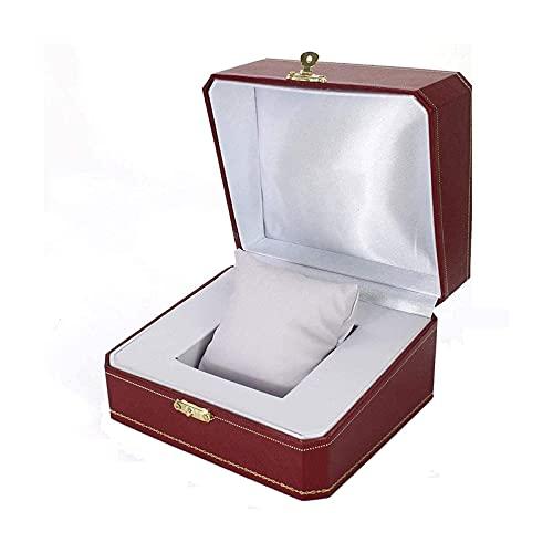 LSLS Caja joyero Retro Vino Rojo Pulsera Anillo Regalo Caja de Embalaje Caja de Cuero Cuero Caja de Reloj Organizador de Joyas
