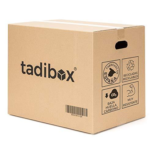 Tadibox XL - 6 Cajas de cartón para mudanza y almacenaje grandes...