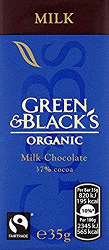 Green and Black's Organic Milk Chocolate 35 g (Pack of 10)