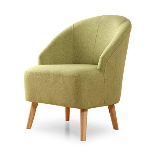 Europe du Nord moderne simple canapé chambre petit appartement salon individuel restaurant loisirs chaise en tissu -LI JING SHOP (Couleur : Green)
