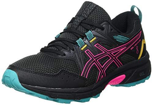 ASICS Gel-Venture 8, Zapatillas de Running Mujer, Color Negro Y Rosa, 40 EU