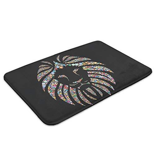 Zhcon leeuw bedrukte deur vloer matten wasbaar binnen huisdecoratie tapijten vloermat vloerbedekking vloerkleed voor badkamer slaapkamer