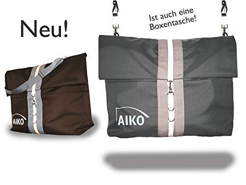 Aiko Multifunktionelle Riesentasche, Boxentasche, Schabrackentasche - 80x60cm, mit Zubehör (platingrau)