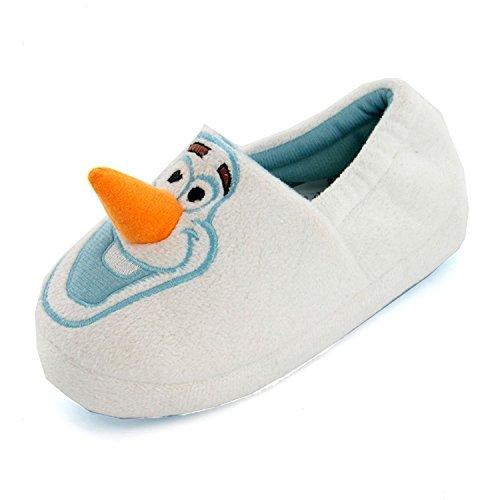 Disney Frozen Olaf 3D Neuheit weiß Jungen Slipper, Weiß - weiß - Größe: 31 EU