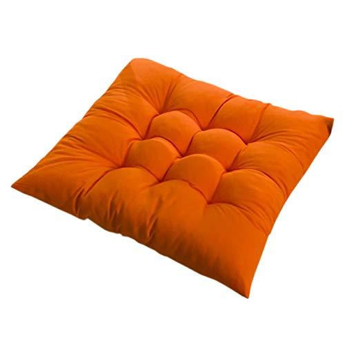 PICTURESQUE Stuhlkissen mit Bänder Sitzkissen Stuhl Polster Sitzauflage,Orange,2 Stück