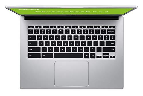 Acer Chromebook 514 (14 Zoll Full-HD IPS Touchscreen matt, Alu Unibody, 17mm flach, extrem lange Akkulaufzeit, schnelles WLAN, beleuchtete Tastatur, MicroSD Slot, Google Chrome OS) Silber - 6