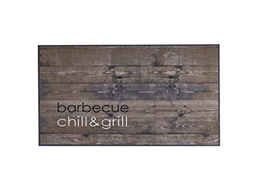 Bavaria Home Style Collection – BBQ Rutschfester Fußabtreter für den Außenbereich | 120 x 67 cm | Motiv: Chill & Grill