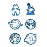 6pcs / Set Super Hero Serie The Avengers Alliance Zucchero Cookie Cutter Mold Fustelle per Gli Accessori da Cucina