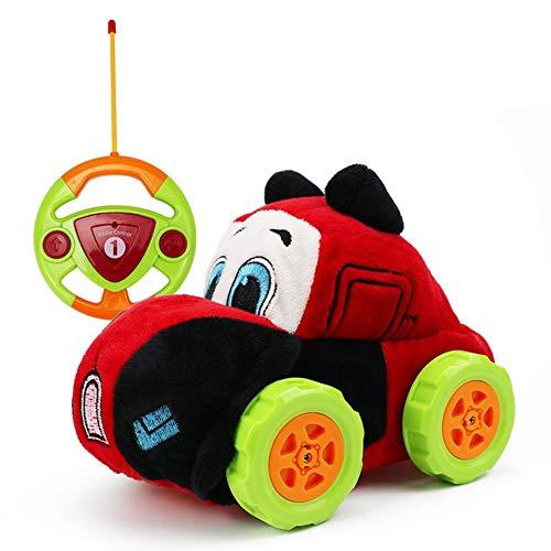 Ferngesteuertes Auto Kindergeschenk Plüsch Cartoon Radio Ferngesteuerter Auto, Waschbar Auto Spielzeug Rennfahrzeug Absturzsicher Für 3-6 Jahre Alt Kinder Jungen Mädchen