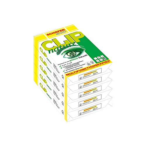 SCHÄFER SHOP Multifunktionspapier CLIP nature, DIN A4, 75 g/qm, Druckerpapier, Kopierpapier, Universalpapier, 2500 Blatt