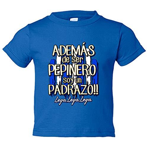 Camiseta niño además de ser Pepinero soy un padrazo Leganés fútbol - Azul Royal, 12-14 años