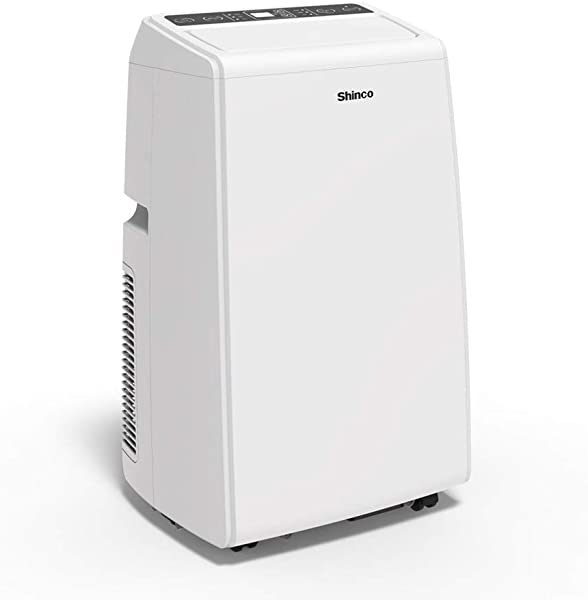 Shinco SPS5 10 000 BTU Portable Air Conditioners Cool Fan Quiet Dehumidifier For Rooms Up To 300 Sq Ft LED Display Remote Control White