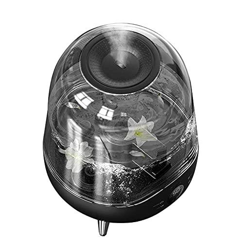 LuoMei Humidificador de Aire Silencioso para el Hogar Humidificación de Oficina Y Dormitorio Humidificación de Aroma Portátil Humidificador de Tanque de Agua TransparenteNegro