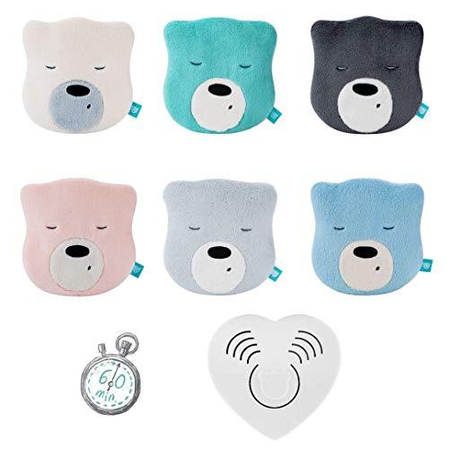 Myhummy SZUMISIE Mini Head Pink White Noise-Spielzeug mit Gund-Sound-Gerät von Geburt an geeignet, 60 Minuten verblassen + englische Anleitung (Mini Beige)