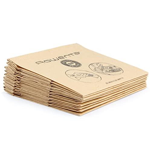 XACQuanyao Bolsas de Filtro de Papel para aspiradora de 10 Piezas para Moulinex TEFAL W2641ea Rowenta RO5227 ZR0039 RO1717 RO1733 RO1751